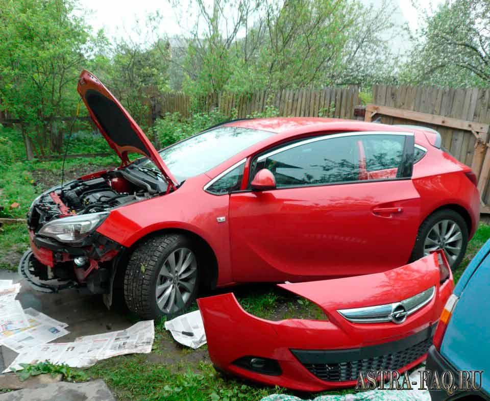 Как снять бампер на Opel Astra